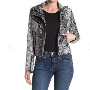 NWT BLANKNYC Snake Faux Leather Moto Jacket